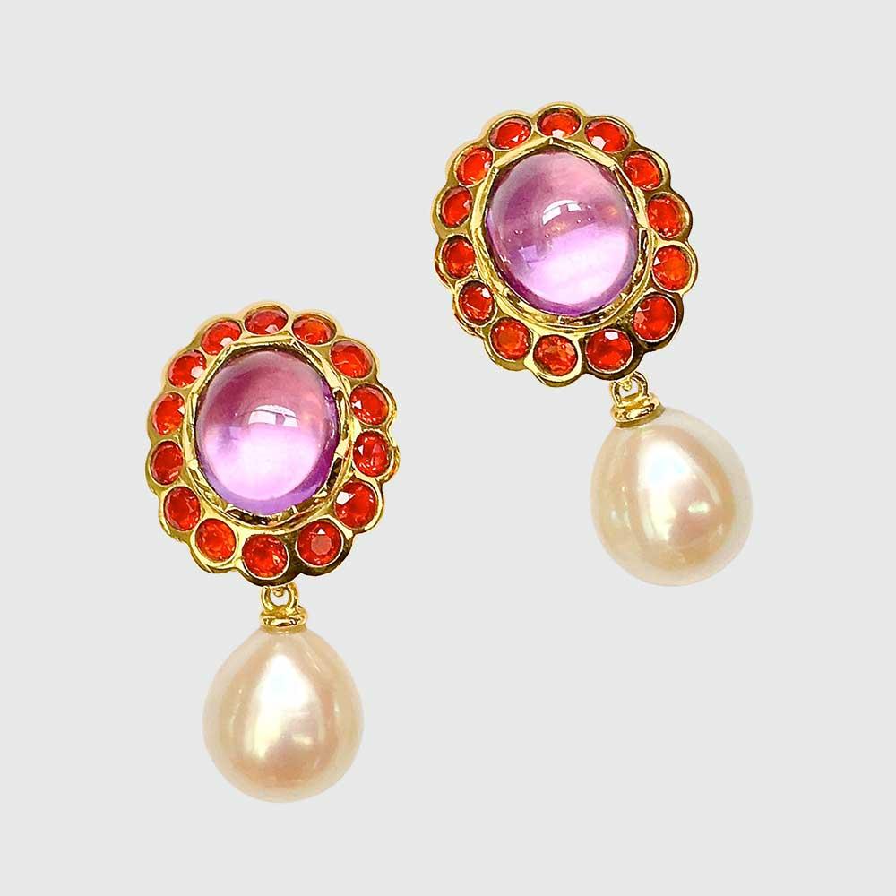 Ohrringe mit Perlen von Thomas Pohl