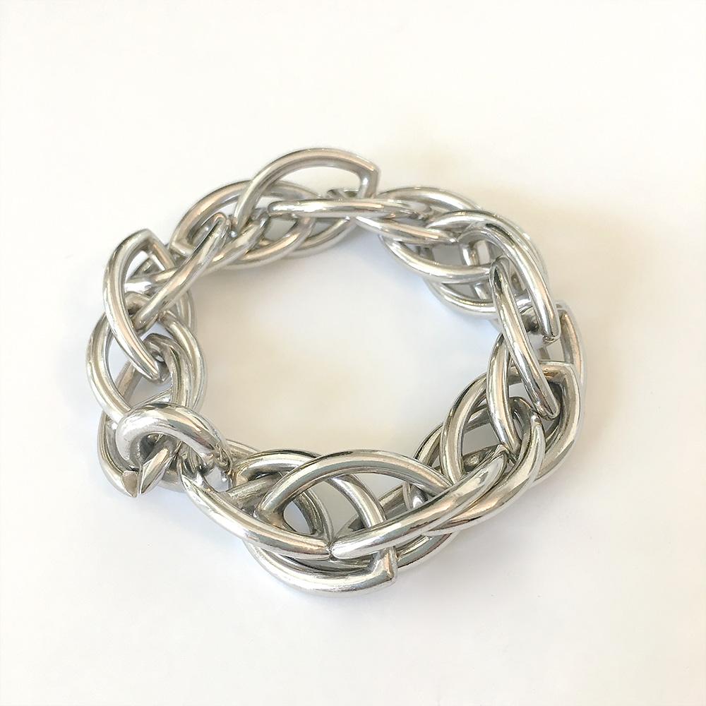 Silberne, geflochtene Halskette von Thomas Pohl