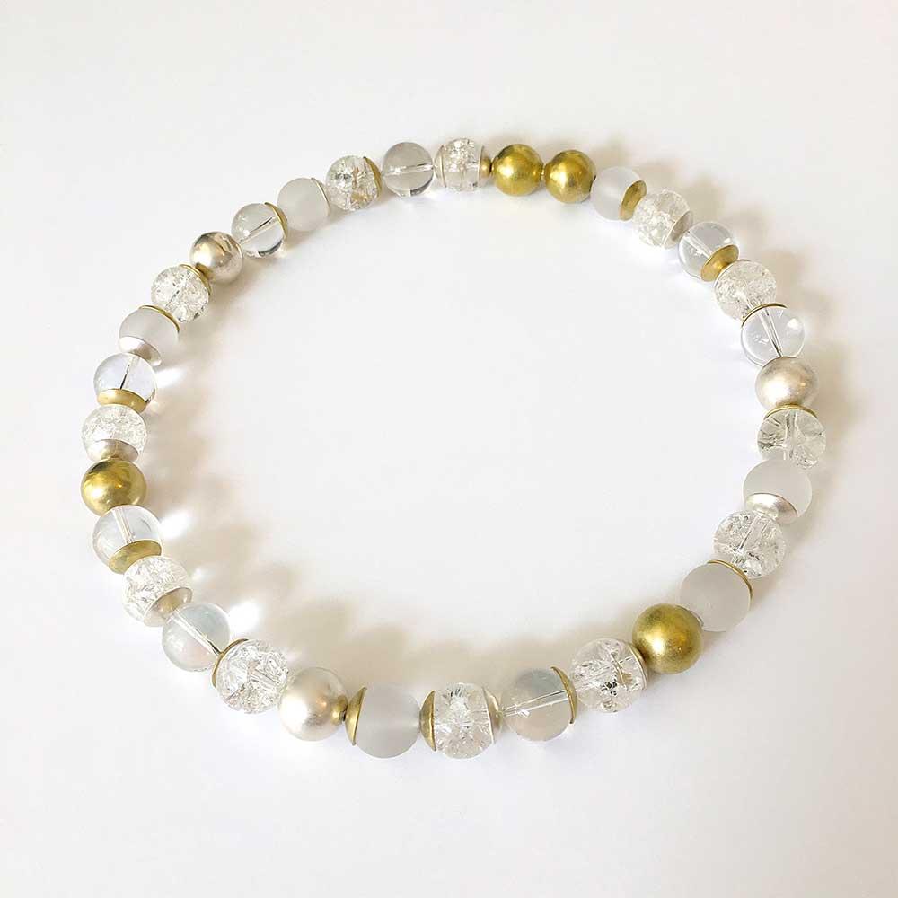 Durchsichtige Perlenhalskette von Thomas Pohl