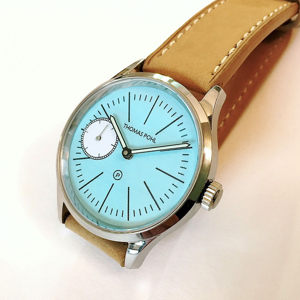 Blau, grünes Perlenarmband von Thomas Pohl
